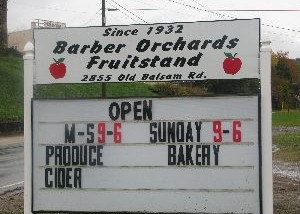 Barber Orchards Friut Stand 1