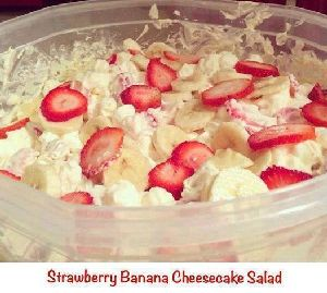 Strawberry banana Cheesecake bowl